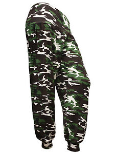New Womens Camouflage Army Print Ladies Ali Baba Harem Pants Trousers Size S-XXL