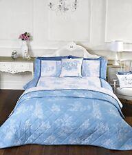 Rapport Camargue Blue French Country Toile Cotton Rich Duvet Set Bedding Double