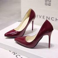 2019 HOT Women Shoes Pointed Toe Pumps Patent Leather Dress  High Heels Shoes