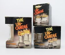 Lot 6 Vtg Mid Century Floating Un-Candle Corning Compete Sets of Wicks & Holders