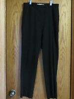 Tommy Hilfiger black dress pants flat front woman's size 8 Measures 32x30 inches