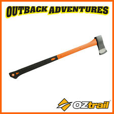 """OZtrail SPLITTING AXE WITH RUBBER HANDLE  �€"""" 800mm HANDLED CAMPING TOOL"""