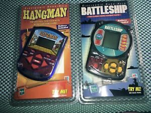 Brand New Unopened in Blister Pack Working Word Guessing Game Family Word Guessing Game HANGMAN MB GAMES 2002 Electronic Hand Held Game