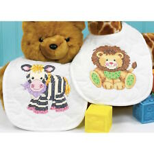 Dimensions 73429 Baby Express Bibs Hugs Stamped Cross Stitch Kit