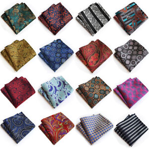 Men's Formal Paisley Floral Handkerchief Wedding Party Business Pocket Square