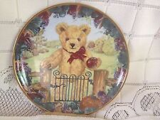Franklin Mint Plate Teddys First Harvest w COA