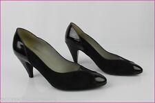 VINTAGE Zapatos JB MARTIN Paris Ante y Todo charol negro T 35,5 MUY BUEN ESTADO