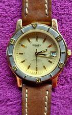Men's Gruen Quartz Sport Wrist Watch Stainless Steel Back Water Resistant 5ATM