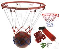 Junior Kids Basketball Ring Ball Net Wall Mounting Bracket &Handpump