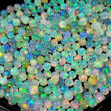 4.5 MM Sphere Round Natural AAAA Multi Rainbow Fire Welo Opal Balls Wholesale