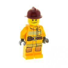 1 X Lego système Personnage torso torse orange imprimé avec veste Bras Orange Mains