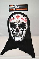 Day of the Dead Skull Mask Silver Halloween Decoration Party Adult Costume NEW