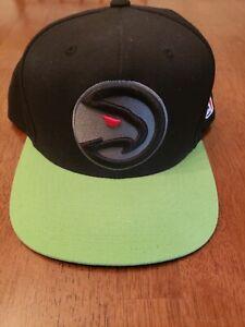 Atlanta Hawks Mitchell & Ness Snapback Hat Cap NBA Wool Blend Green Black
