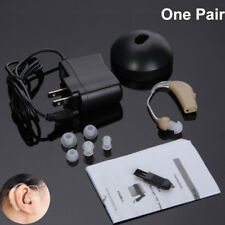 2x Rechargeable Acousticon Behind Ear Hearing Aid/Aids Audiphone Sound Amplifier