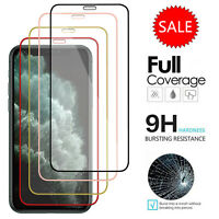 Full Cover 9H Tempered Glass Screen Protector Film For iPhone 11 Pro Max X/XS/XR