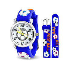 Watch Quartz 3D Blue Silicone Sports Soccer Football Waterproof Wrist