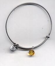 citrin drop bracelet Alex & Ani silver