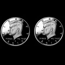 2010 S Kennedy Silver and Clad Half Dollar Proof  Set ~ Two U.S. Mint Coins
