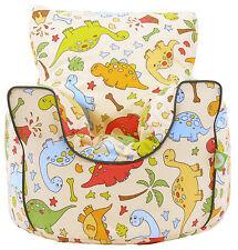 Cotton Green Dinosaur Bean Bag Arm Chair with Beans Child /Teen size By BeanLazy