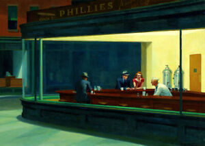 Nighthawks by Edward Hopper (1942) vintage american diner wall art poster print