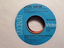 """CANADA  RCA CLEAR VINYL 7"""" 45 RECORD/SYLVIE VARTAN/DISCO QUEEN/ROCKY MOUNTAIN/EX"""