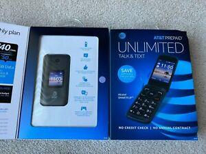 Alcatel SMART FLIP - 4GB - Volcano Black (AT&T) UNLOCKED Flip Phone