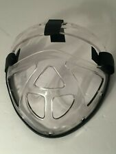 💚 Clear Sports Gear Mma Martial Arts Strap On Plastic Lucite Mask Shield C2