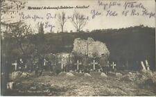 1.Weltkrieg, Termes (Ardennes), Soldaten-Friedhof, alte Foto-Ak, Feldpost