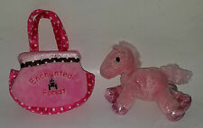 Aurora Pink Horse Plush In Enchanted Forest Bag Purse Oregon Stuffed Animal Toy