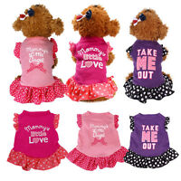 1pc Cute Puppy Small Dog Pet Apparel Apparel Clothes Fly Sleeve Dress Pet Shirts