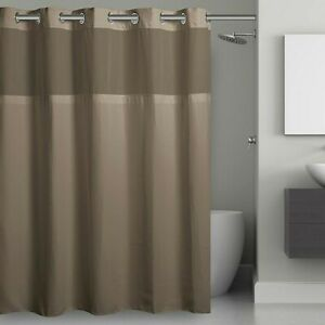 Hookless Waffle Fabric 71-Inch x 86-Inch Shower Curtain in Desert Taupe long