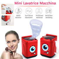 Mini Electric Washing Machine Dollhouse Toy Very Useful Wash Makeup Brushes NEW