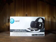 ONN VIRTUAL REALITY SMARTPHONE HEADSET COLOR BLUE FITS IPHONE SAMSUNG  AND OTHER