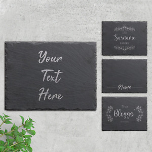 Personalised Slate Placemat Engraved Stone Serving Board Cheese Platter