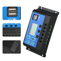 30A LCD MPPT Solar Panel Battery Regulator Charge Controller 2 USB @vt~^ly New