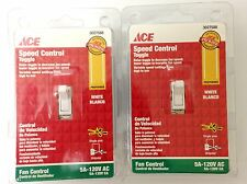 Lot of 2 Ace Toggle Ceiling Fan Speed Control Switch SinglePole White ACE6446W-K
