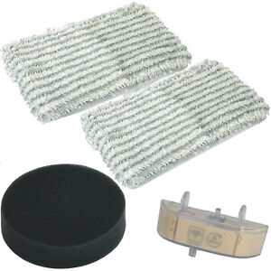 ROWENTA TEFAL Steam Mop Foam Filter Cleaner Pads Anti Scale Cartridge Set