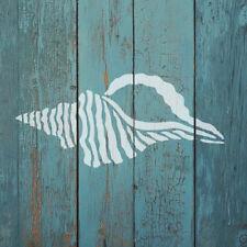 Seashell Nautical Stencil - Reusable Wall Stencils for DIY Beach House Decor
