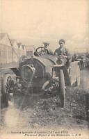 CPA 69 SEMAINE LYONNAISE D'AVIATION 1910 L'AVIATEUR MIGNOT ET SON MECANICIEN EN