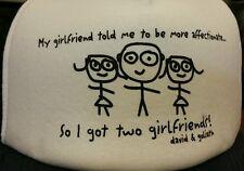Two girlfriends Trucker hat mesh snap back blue cap joke gag Birthday gift COOL