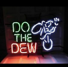 Rare Vintage Do The Dew Mountain Dew Bar Cub Party Light Lamp Neon Sign
