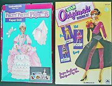 PRETTY PRETTY PRINCESS Paper Dolls and STAR ORIGINALS DESIGNER SET UNCUT