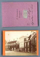 P. Osterhuis, Pays-Bas, La Haye La Maison du Bois  CDV vintage albumen carte de