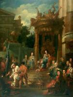 "oil painting handpainted on canvas "" King William III (1650–1702) as Solomon """