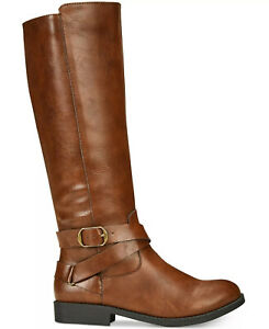 Style & Co. Madixe Round Toe Knee High Riding Women's Boots Cognac Brown 5.5 NIB
