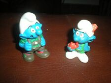 LOT 2 SCHTROUMPFS TYROLIENS SCHLEICH BULLY PEYO - SMURF PITUFO TYROL