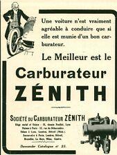 Publicité ancienne voiture automobile carburateur Zénith 1915 issue de magazine