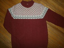 vtg THANE SWEATER Winter Ski Cable Knit High Collar Orlon Acrylic 60s 70s