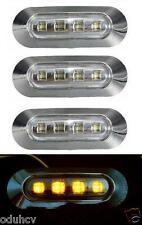 4x 4 LED Seite Bernstein Chrom-Blende Markierungsleuchte für LKW Bus DAF IVECO
