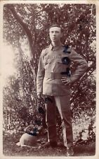 WW1 soldier Pte  TF Territorial believed to be Norfolk Regiment Puggaree Flash